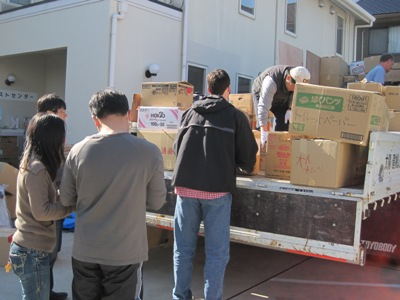 Michael Helping to Load Truck