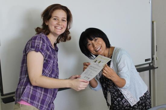 Receiving Her Certificate
