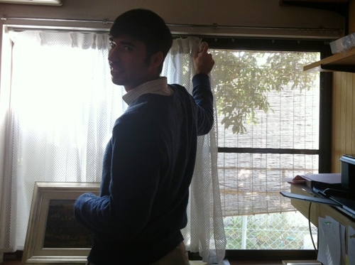Michael Changing Curtains