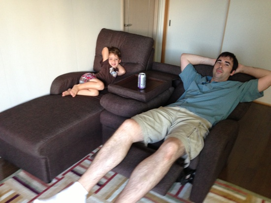 Breaking in the New Couch